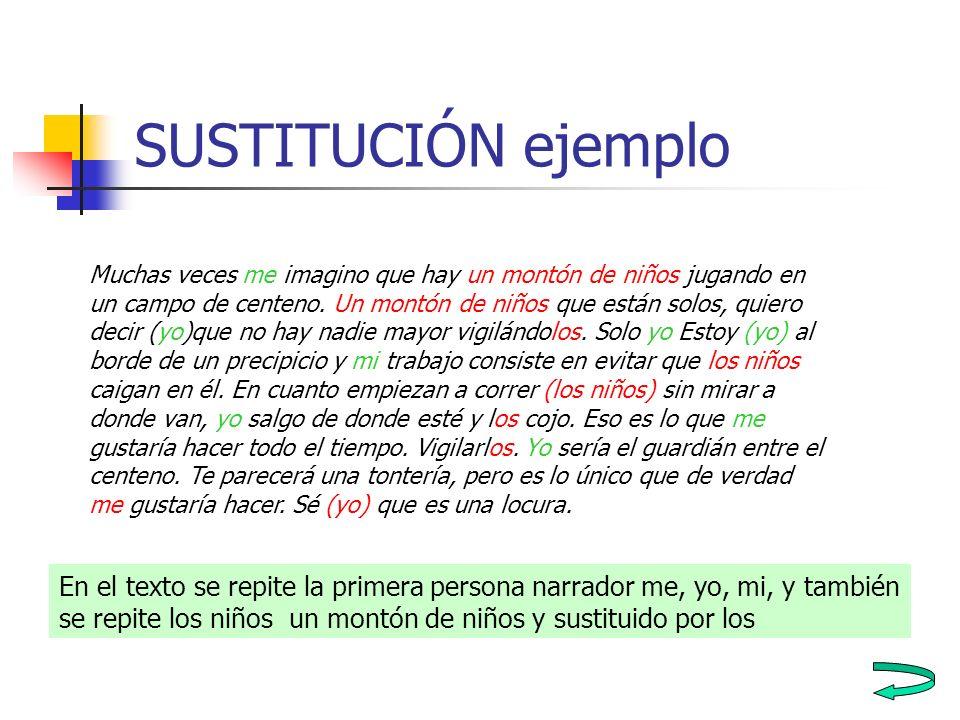 SUSTITUCIÓN ejemplo