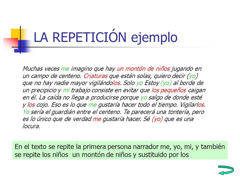 LA REPETICIÓN ejemplo
