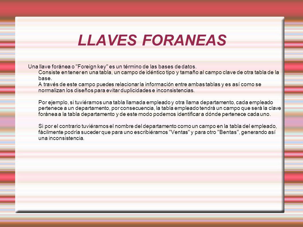 LLAVES FORANEAS