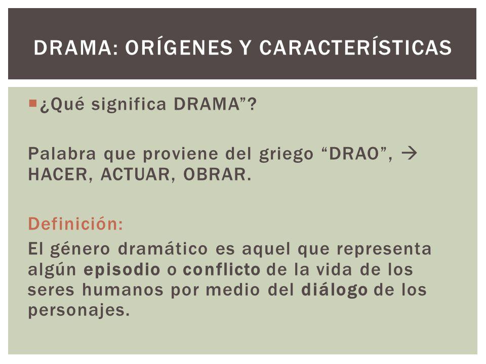 Drama: Orígenes y características