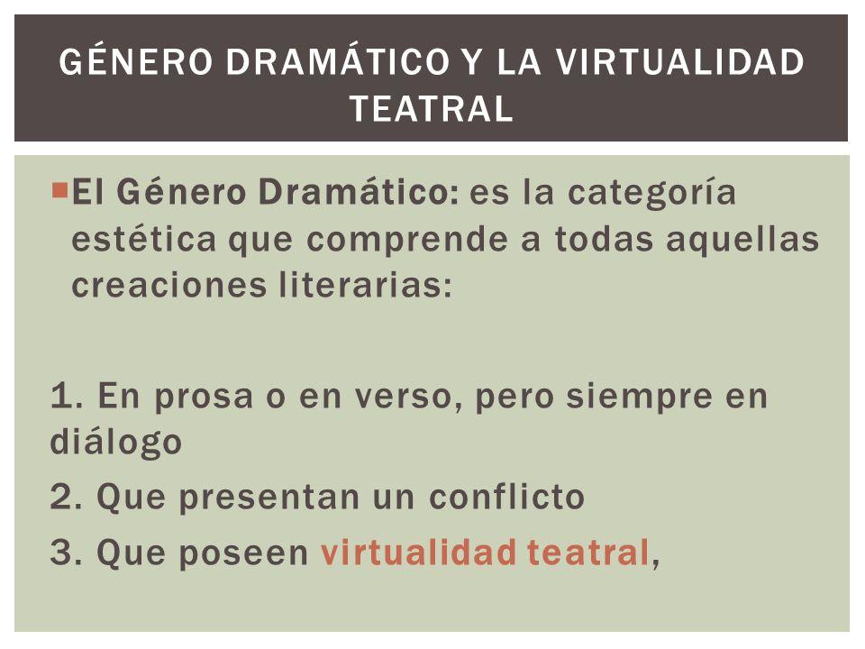 Género dramático y la virtualidad teatral