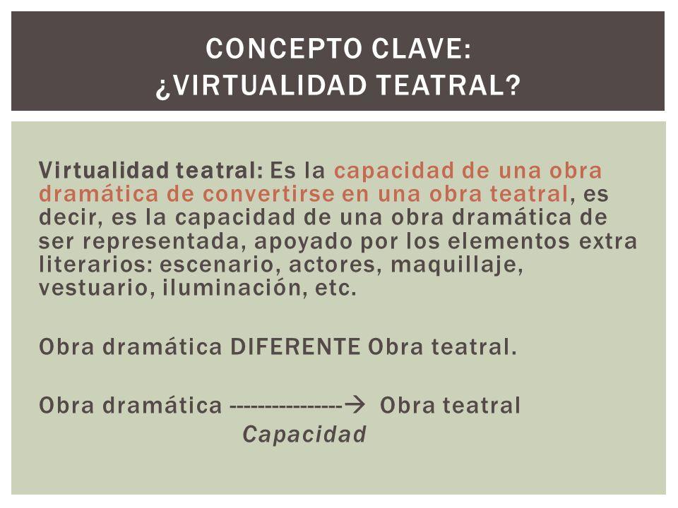 Concepto clave: ¿Virtualidad teatral