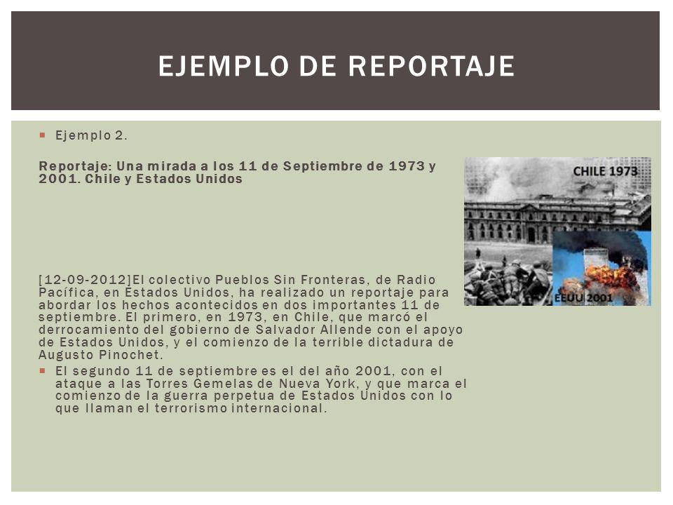 Ejemplo de reportaje Ejemplo 2.