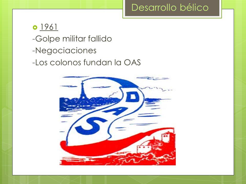 Desarrollo bélico 1961 -Golpe militar fallido -Negociaciones