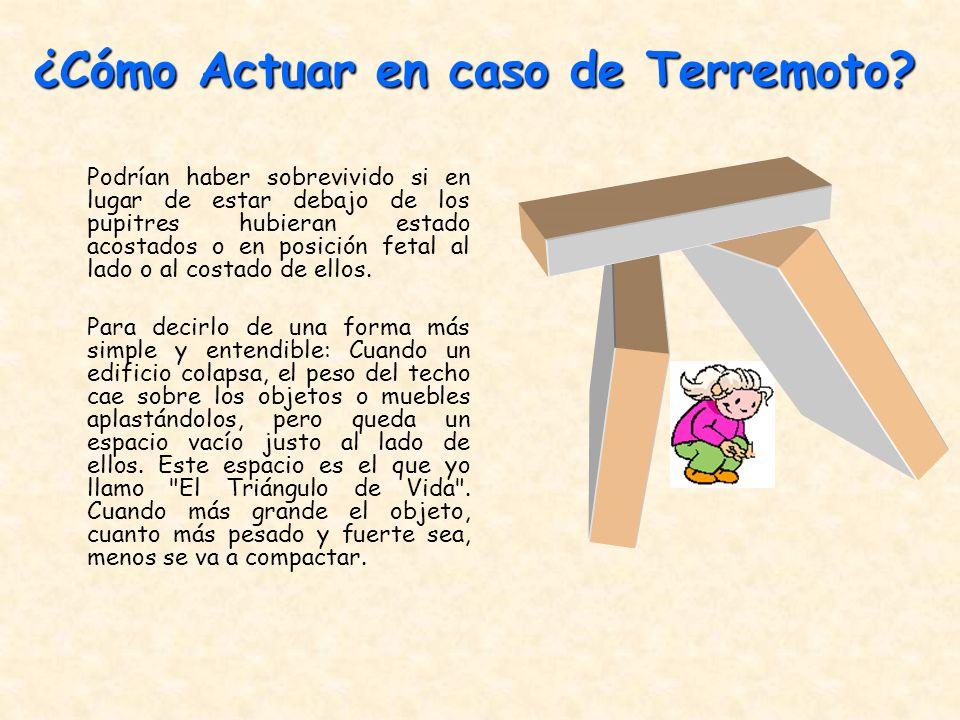 ¿Cómo Actuar en caso de Terremoto