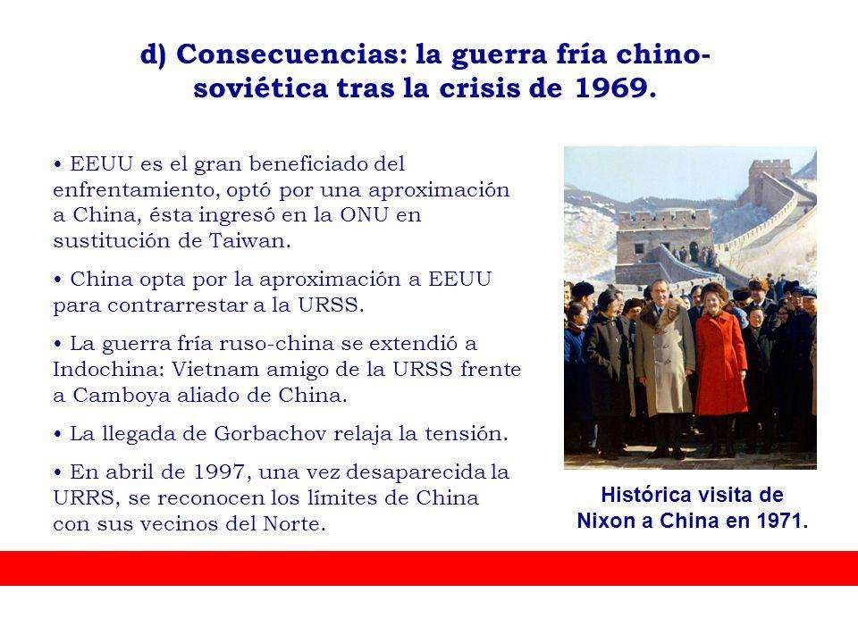 Histórica visita de Nixon a China en 1971.