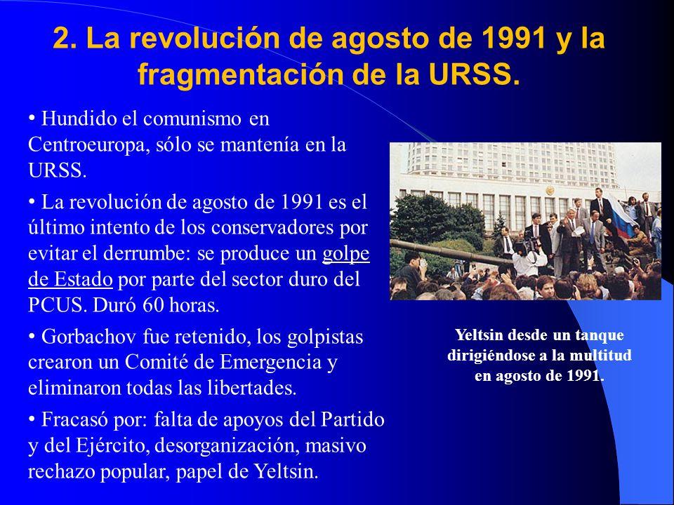 2. La revolución de agosto de 1991 y la fragmentación de la URSS.