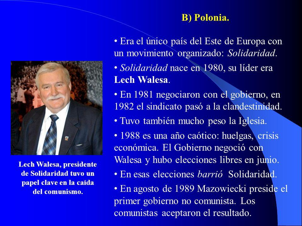 Solidaridad nace en 1980, su líder era Lech Walesa.