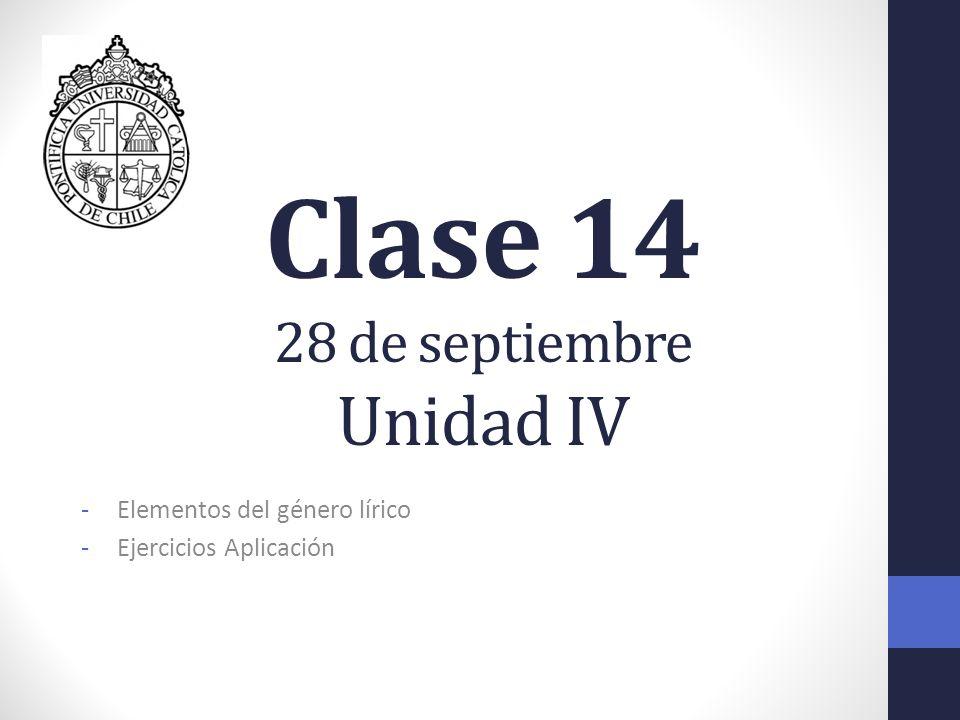 Clase 14 28 de septiembre Unidad IV