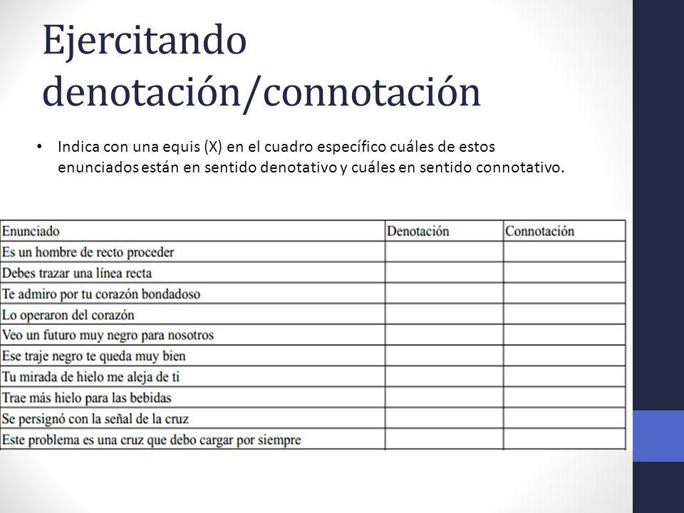 Ejercitando denotación/connotación
