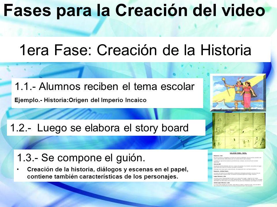 1era Fase: Creación de la Historia