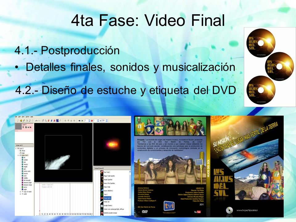 4ta Fase: Video Final 4.1.- Postproducción