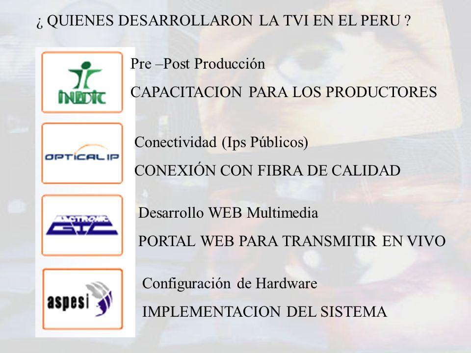 ¿ QUIENES DESARROLLARON LA TVI EN EL PERU