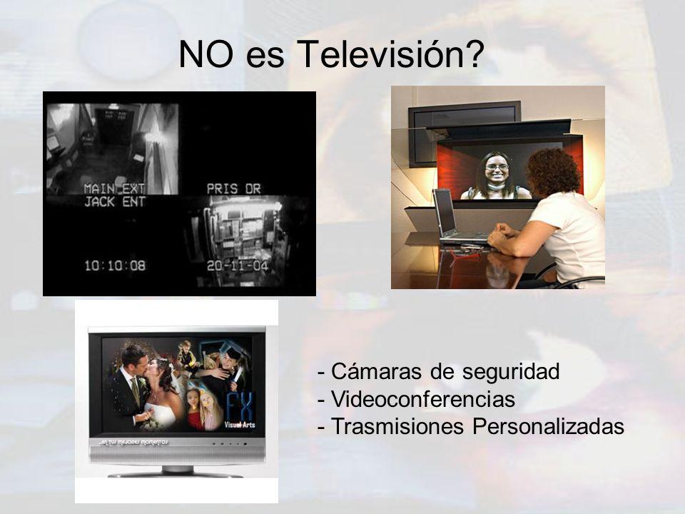 NO es Televisión - Cámaras de seguridad - Videoconferencias