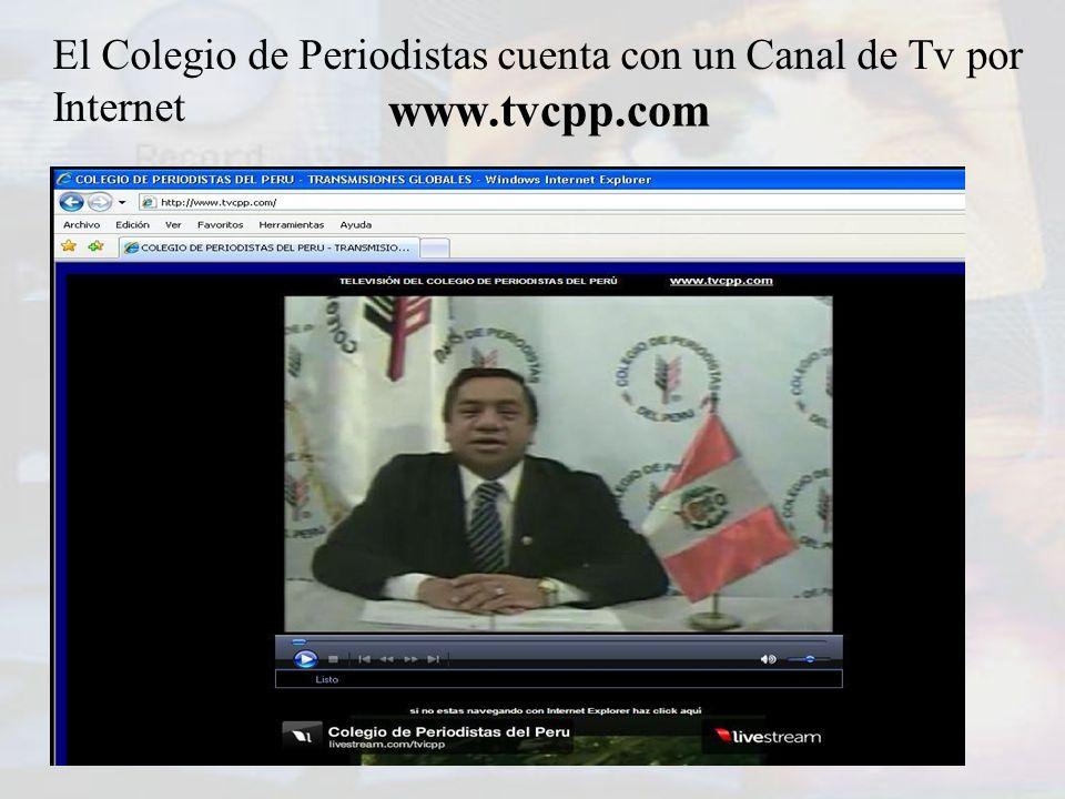El Colegio de Periodistas cuenta con un Canal de Tv por Internet