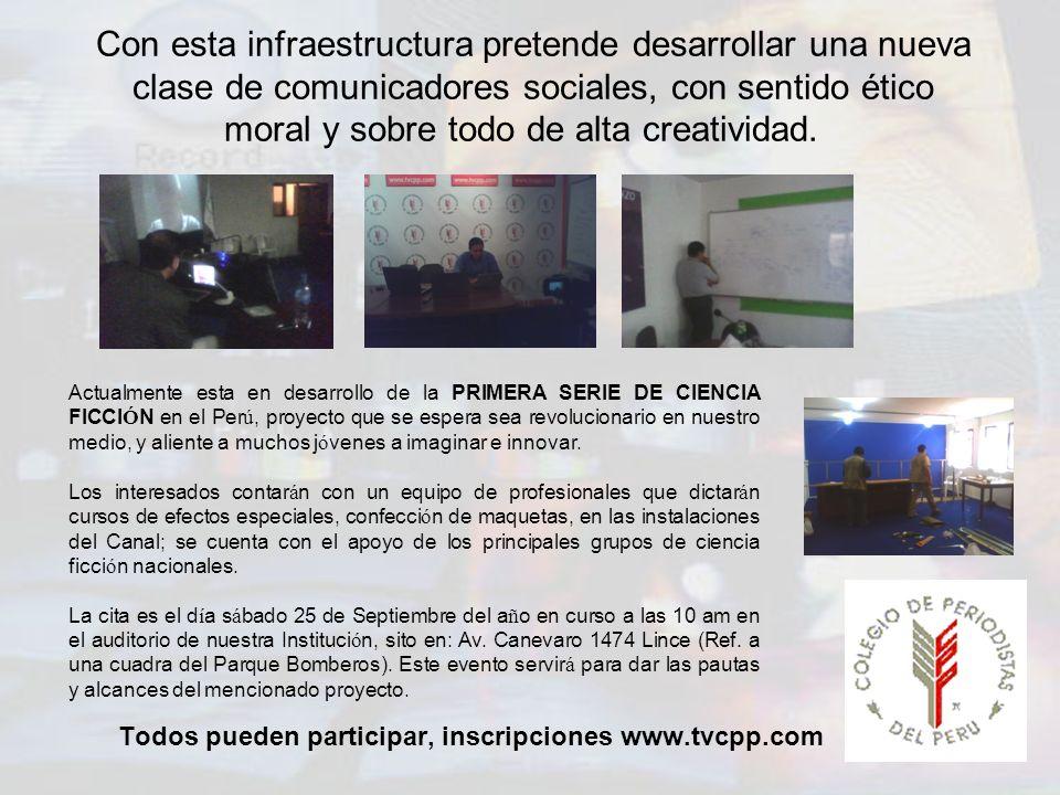 Todos pueden participar, inscripciones www.tvcpp.com