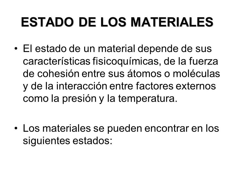ESTADO DE LOS MATERIALES