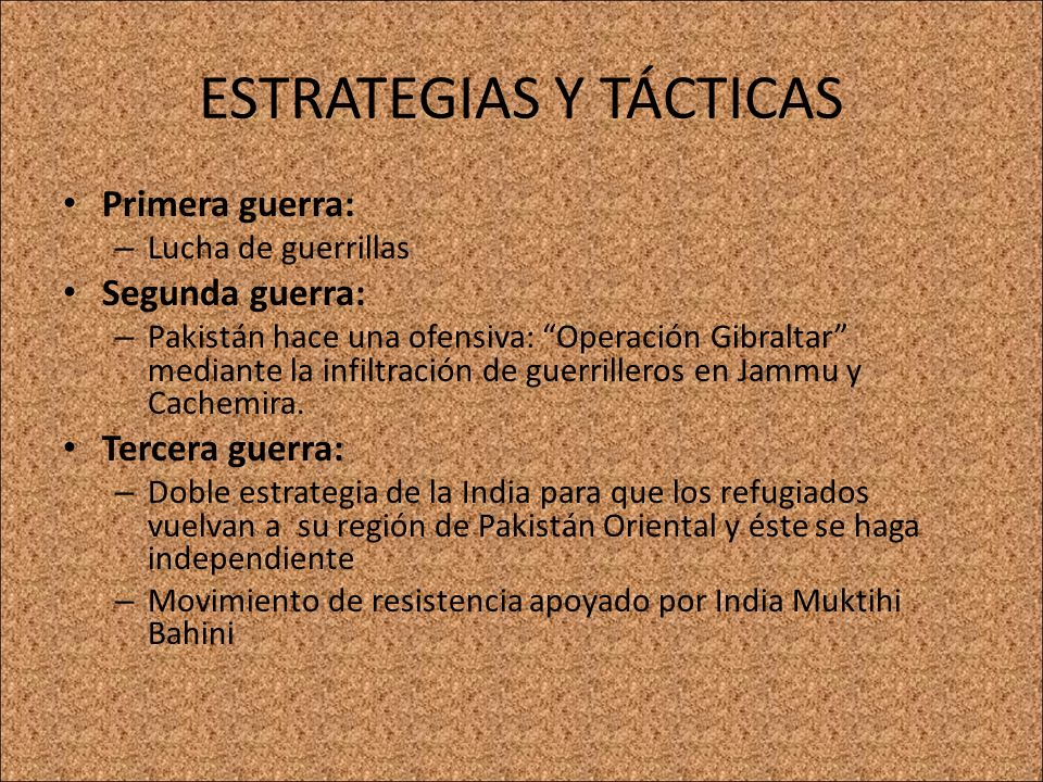 ESTRATEGIAS Y TÁCTICAS