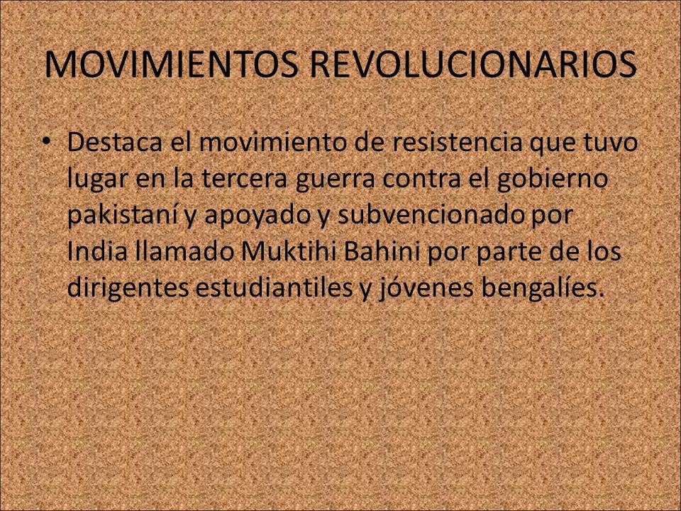 MOVIMIENTOS REVOLUCIONARIOS