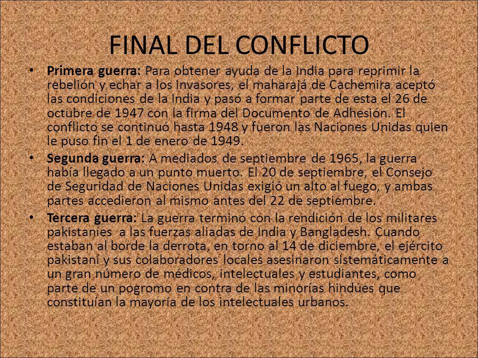 FINAL DEL CONFLICTO