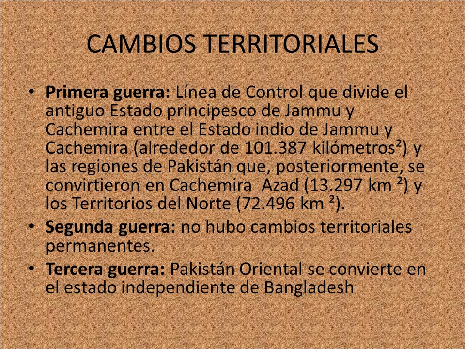 CAMBIOS TERRITORIALES