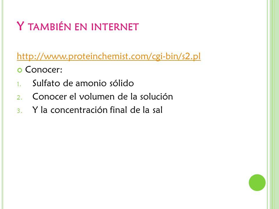 Y también en internet http://www.proteinchemist.com/cgi-bin/s2.pl