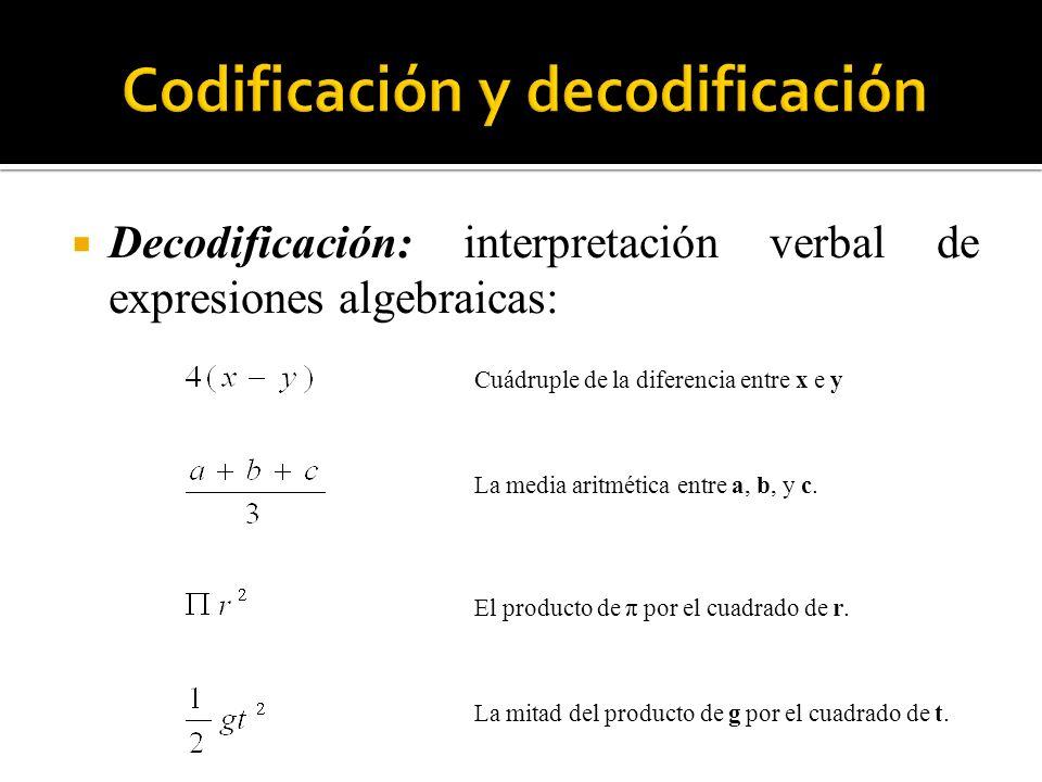 Codificación y decodificación