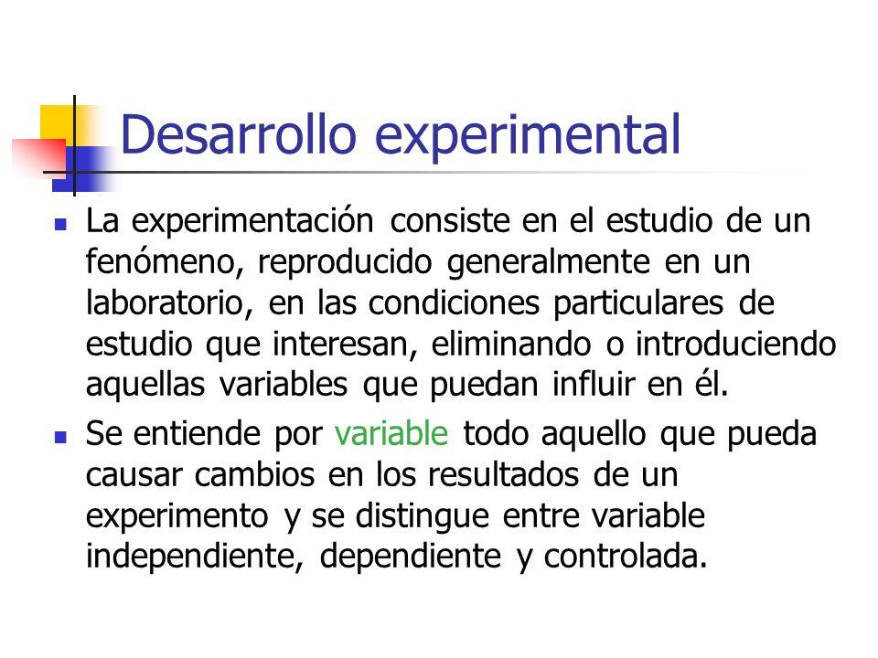 Desarrollo experimental