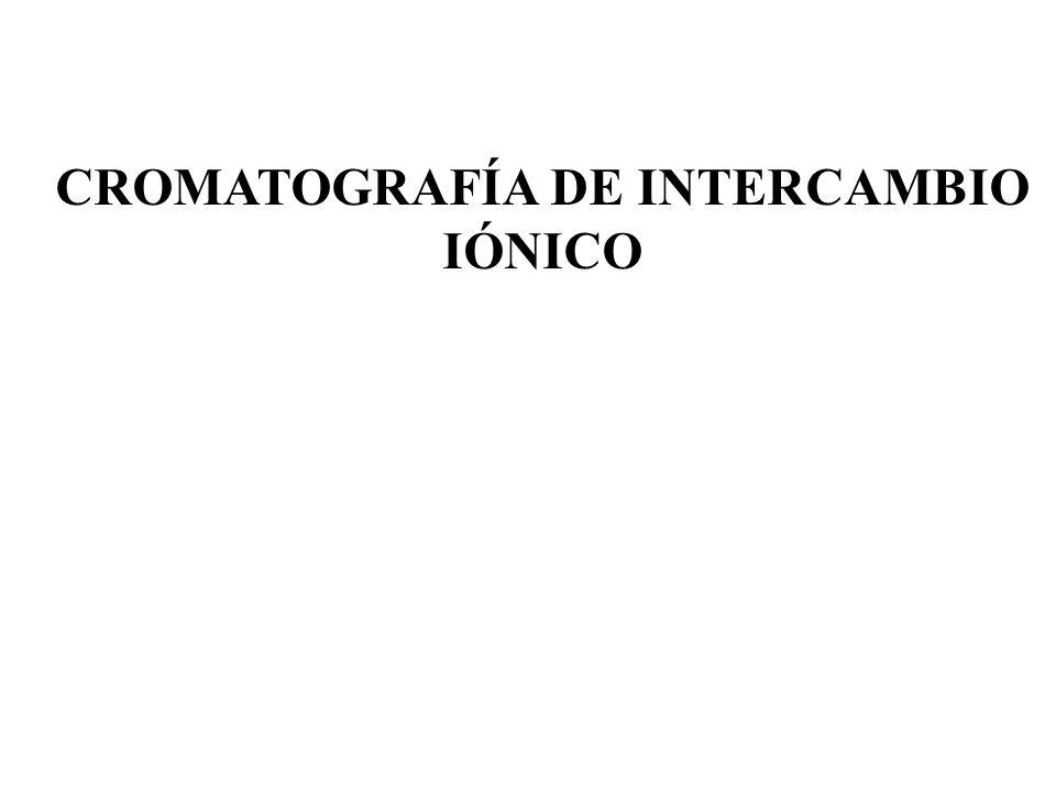 CROMATOGRAFÍA DE INTERCAMBIO