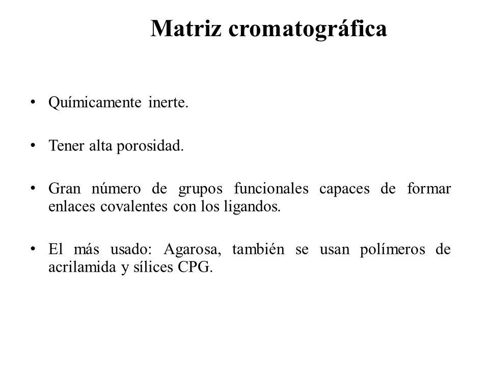 Matriz cromatográfica