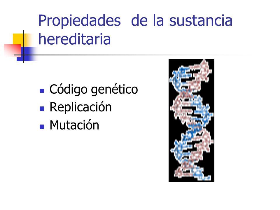 Propiedades de la sustancia hereditaria