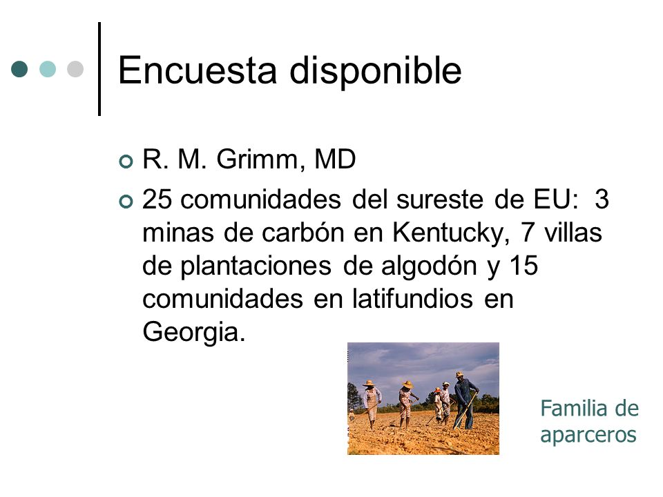 Encuesta disponible R. M. Grimm, MD