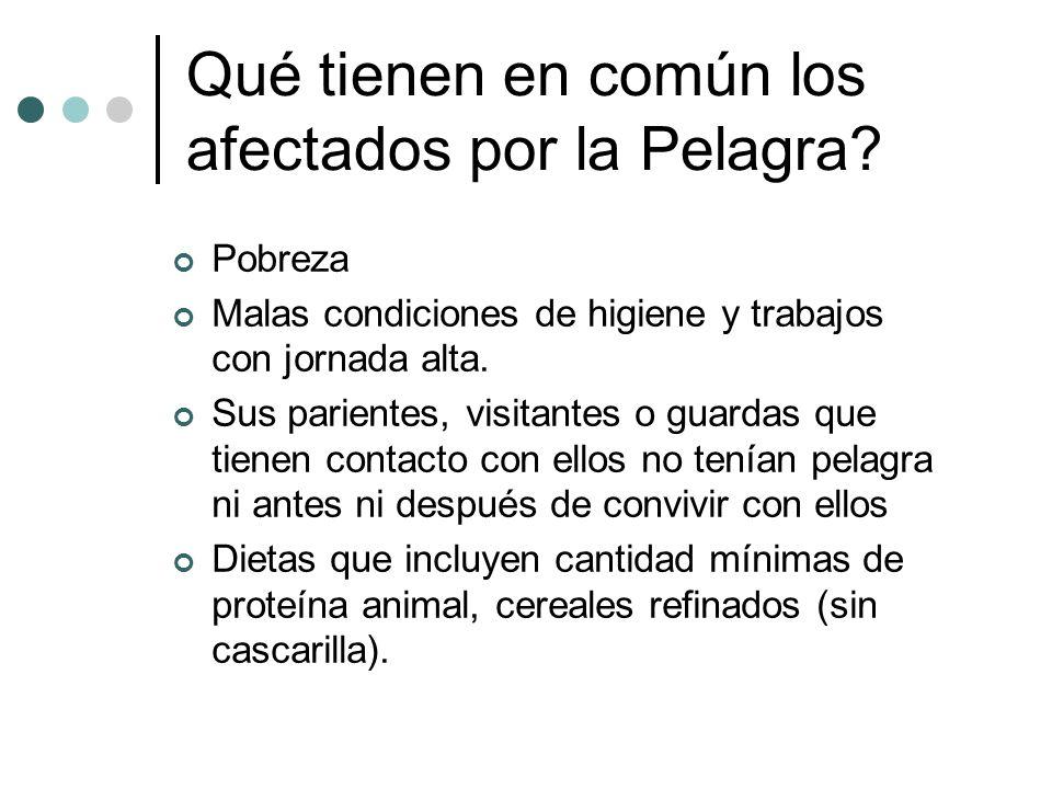 Qué tienen en común los afectados por la Pelagra