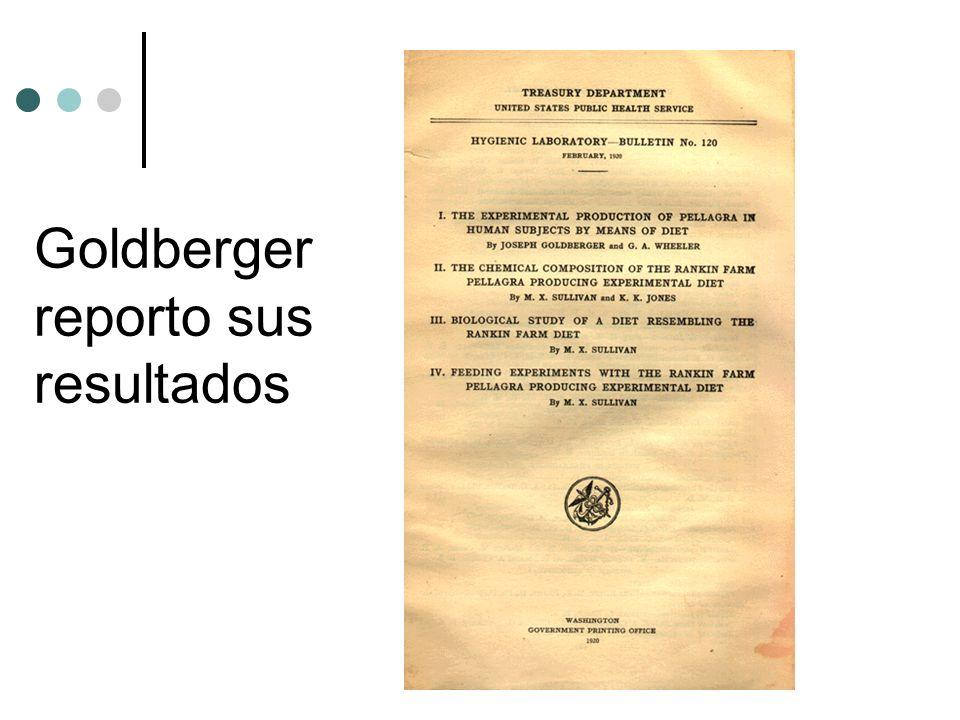 Goldberger reporto sus resultados