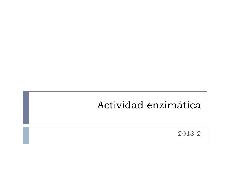 Actividad enzimática 2013-2