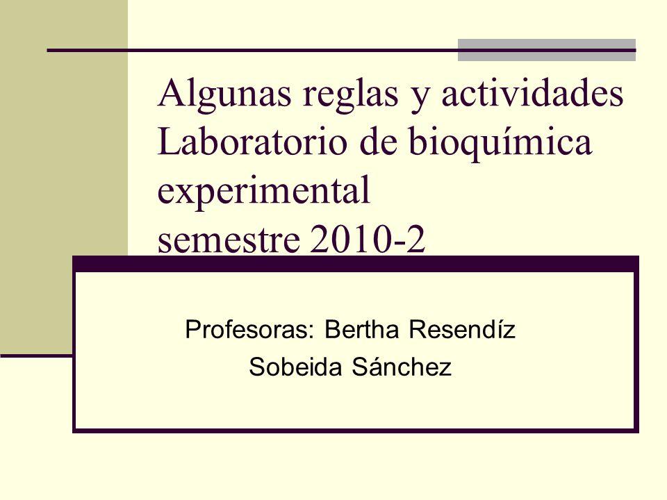 Profesoras: Bertha Resendíz Sobeida Sánchez