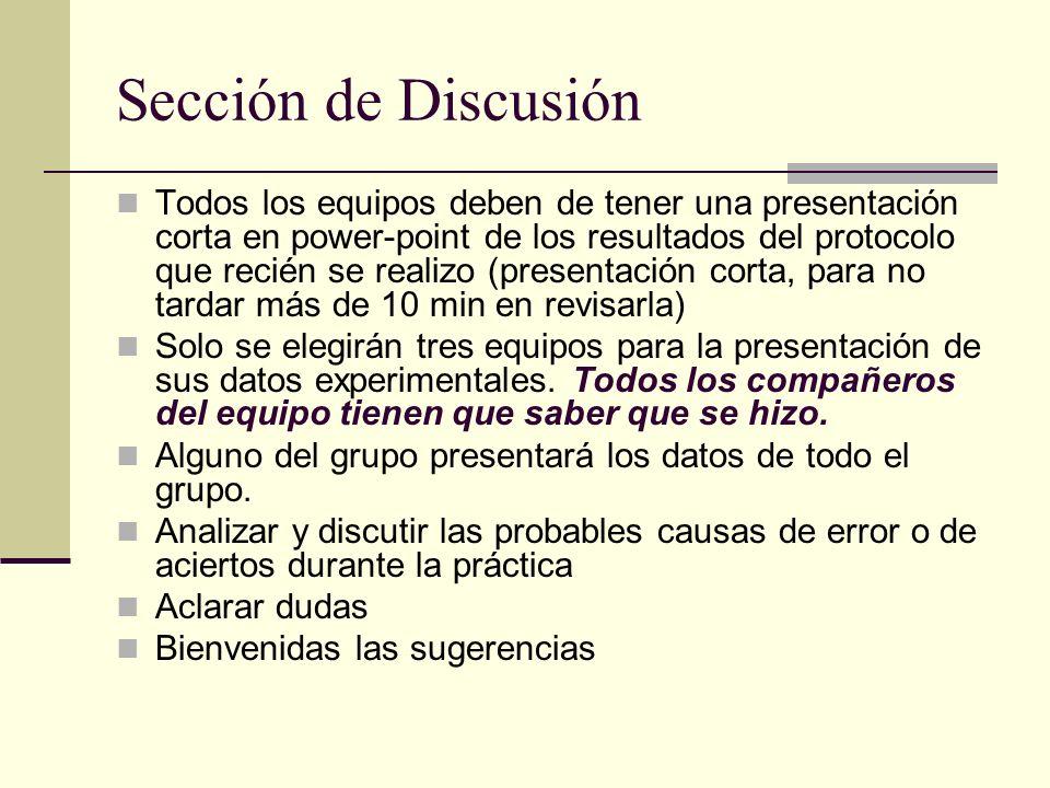 Sección de Discusión