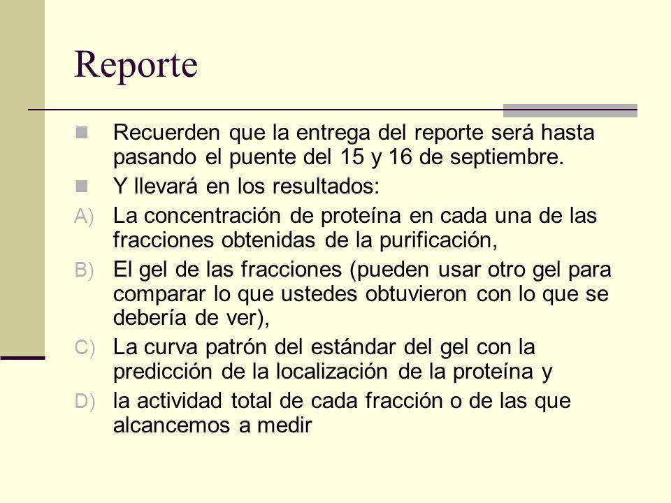 Reporte Recuerden que la entrega del reporte será hasta pasando el puente del 15 y 16 de septiembre.