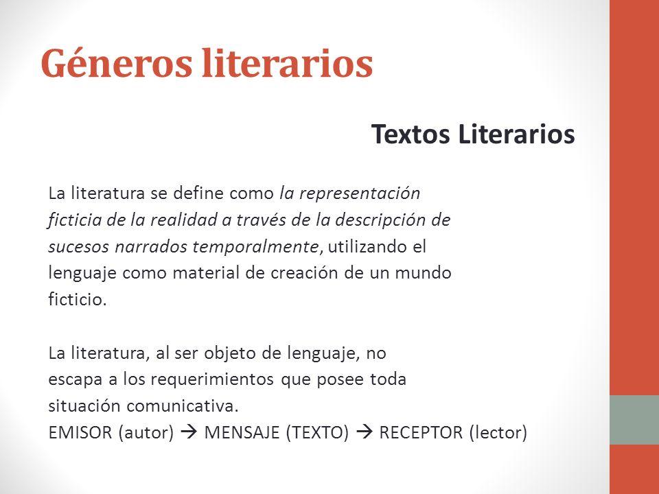 Géneros literarios Textos Literarios