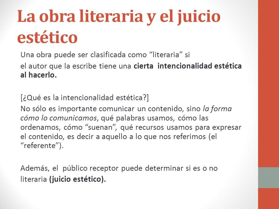 La obra literaria y el juicio estético