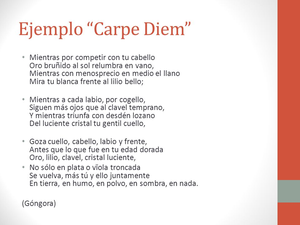 Ejemplo Carpe Diem