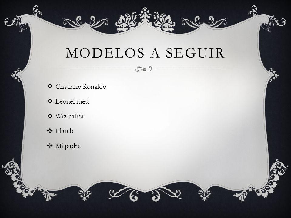 Modelos a seguir Cristiano Ronaldo Leonel mesi Wiz califa Plan b