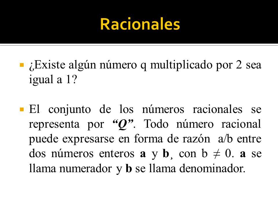 Racionales ¿Existe algún número q multiplicado por 2 sea igual a 1