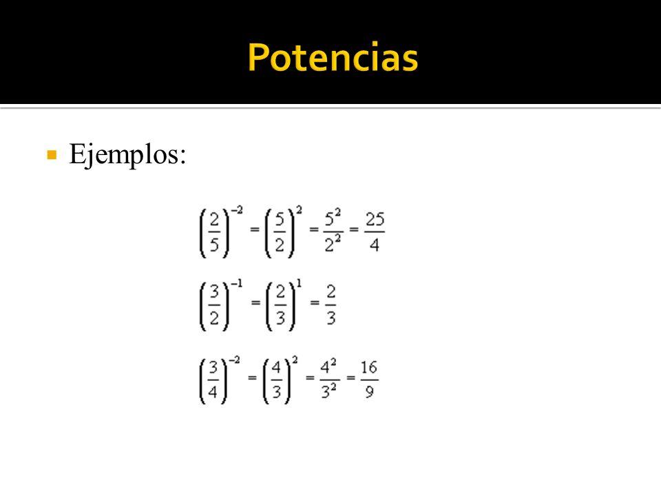 3) 2) 1) Potencias Ejemplos: