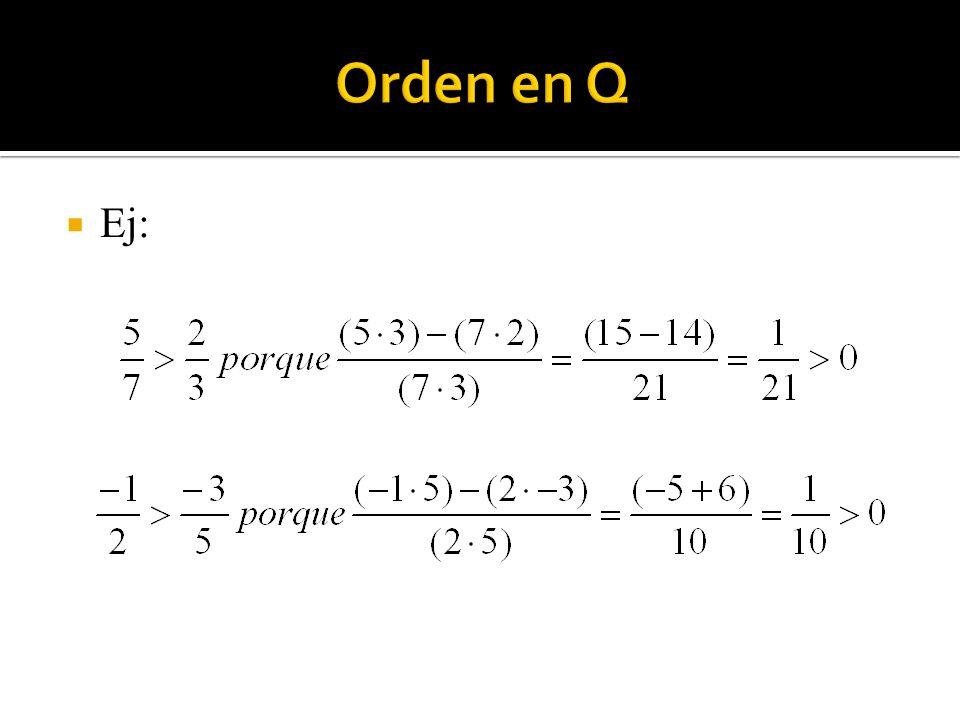 Orden en Q Ej: