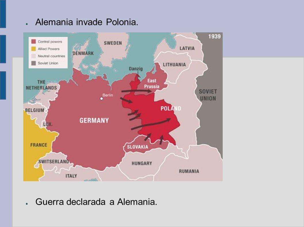 Alemania invade Polonia.