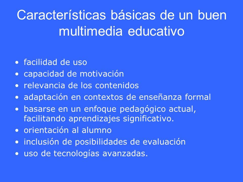 Características básicas de un buen multimedia educativo