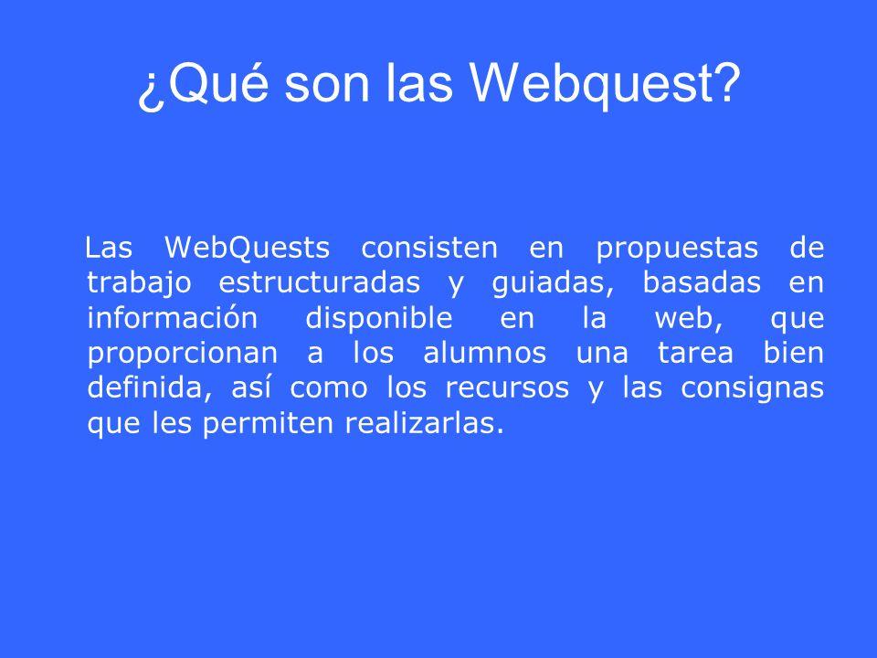 ¿Qué son las Webquest