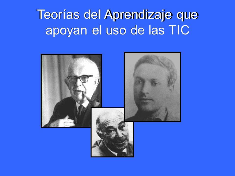 Teorías del Aprendizaje que apoyan el uso de las TIC