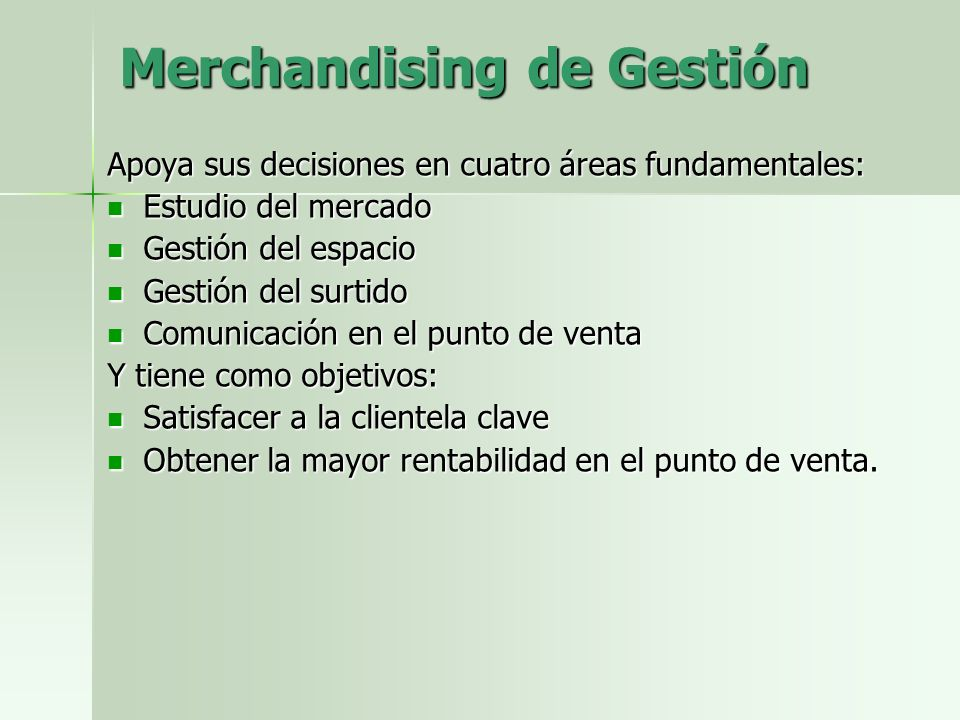 Merchandising de Gestión